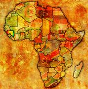 Guinea on actual map of africa Stock Illustration