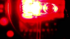 Techno red light glowing - stock footage
