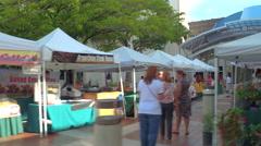 Farmers Market Downtown Miami Stock Footage
