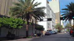 Downtown Miami Flagler Street business district Stock Footage