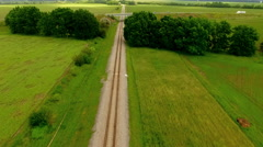 Aerial photography drone over the road. Stock Footage