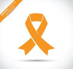 Multiple sclerosis awareness ribbon Stock Illustration