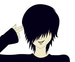 Emo kid with finger gun Stock Illustration