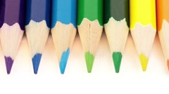 Rainbow Colors pencils Stock Footage