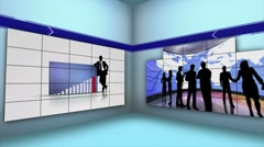 Business Montage Videos in Wall's Room, Background Animation, Loop, 4k - stock footage