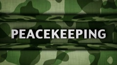 MILITARY GATE, Countdown and PEACE, PEACEKEEPING, MISSION, PEACE MISSION Words,  - stock footage