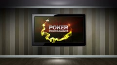 POKER TOURNAMENT Text Animation in Particles, 4k Stock Footage