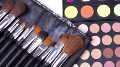 Professional make-up tools Stock Footage