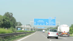 Motorway interchange from A2 to A14 in germany. Stock Footage