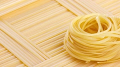 Tagliatelle and spaghetti Stock Footage
