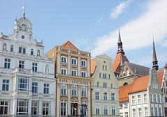 Neuer Markt in Rostock Germany Stock Photos