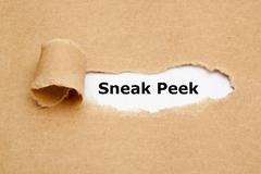 Sneak Peek Torn Paper Concept - stock photo