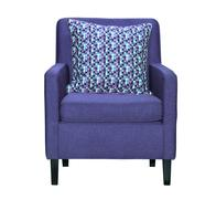 Lilac textile chair isolated Stock Photos