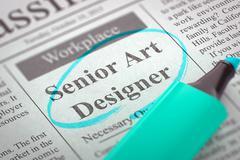 Job Opening Senior Art Designer - stock illustration