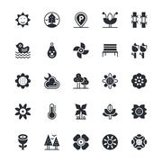 Nature and Park Icons Stock Illustration