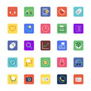 Shopping and eCommerce Colored Icons - stock illustration