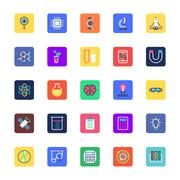 Science and Technology Icons - stock illustration