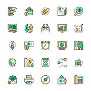 Business and Office Icons Collection Stock Illustration