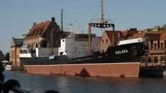 Soldek museum ship Baltic Sea. Stock Footage