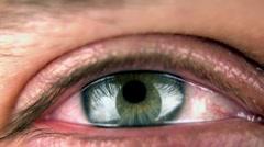Closeup Of An Blue/Green Eye Stock Footage