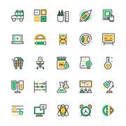 Education Vector Icons set Stock Illustration