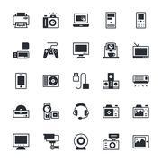 Electronics Icons Stock Illustration