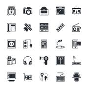 Electronics Vector Icons Collection Stock Illustration