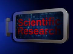 Science concept: Scientific Research on billboard background Stock Illustration