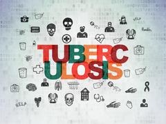 Health concept: Tuberculosis on Digital Data Paper background Piirros