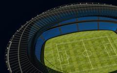 3D illustration of a football stadium Stock Illustration