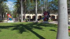 Romero Britto in the park Stock Footage
