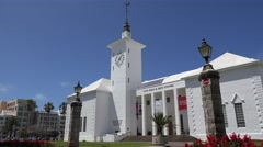 City Hall of Hamilton. Bermuda. Stock Footage