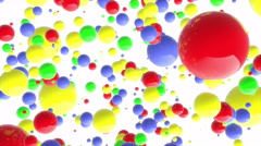 8k 4k UHD Color balls points fun background backdrop loop - stock footage