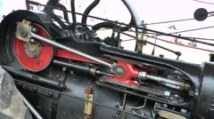 Steam Engine Piston In Operation Stock Footage