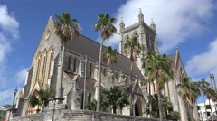 Cathedral of the Most Holy Trinity in Hamilton, Bermuda Stock Footage