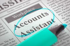 Accounts Assistant Job Vacancy Stock Illustration