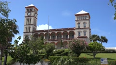 Sessions House, home of Bermuda's House of Assembly and Supreme Court. Hamilton Stock Footage
