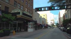 Downtown Miami Flagler Street Stock Footage