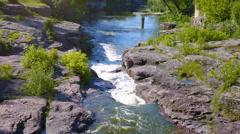 Buki Canyon Fall, Ukrainian Falls, Beautiful Waterfall Stock Footage