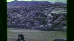 1977: Surrounding area Saksaywaman Inca civilization ancient ruins citadel Stock Footage