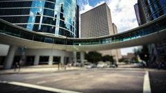 Modern Office Buildings & Traffic in Downtown Houston, Texas - Time Lapse Arkistovideo