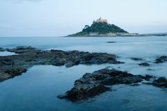 St michaels mount in cornwall - stock photo