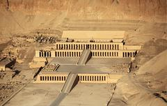 Aerial view of hatshepsut temple Stock Photos