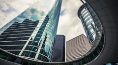 Skyscrapers in Downtown Houston, Texas USA - Time Lapse Arkistovideo