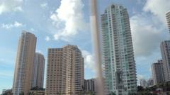 Luxury Miami condominiums - stock footage