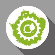 Eco design. Green icon. Isolated illustration , vector Stock Illustration