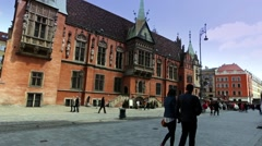 Wroclaw old town footage. Stock Footage