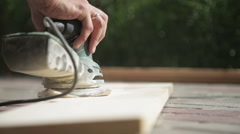 Joinery work at home. - stock footage