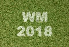 WM 2018 - grass letters on football field Piirros