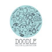 Doodle icon design. cartoon icon. draw concept Stock Illustration